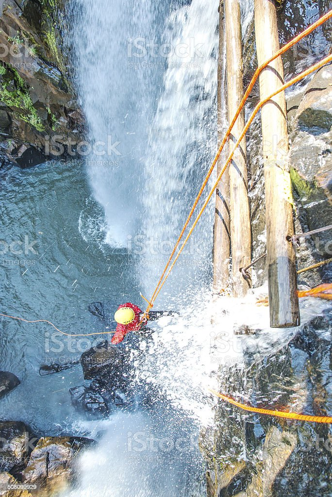 Canyoning stock photo