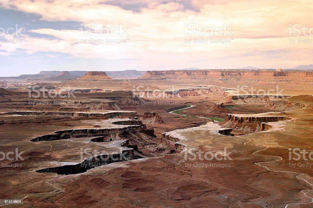 Canyonlands At Sunset stock photo