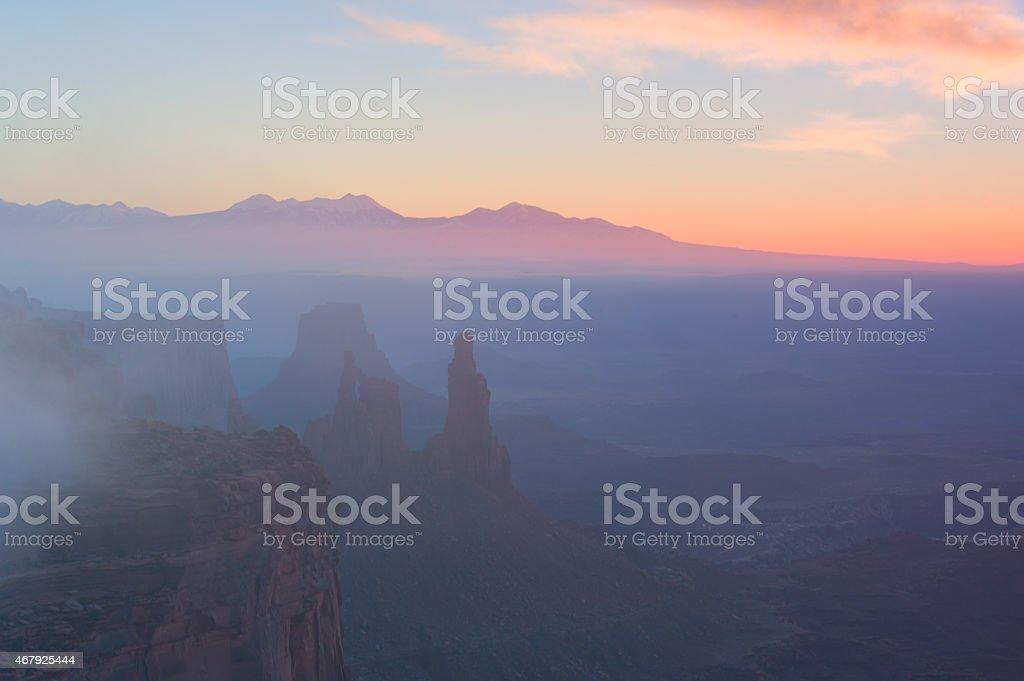 Canyonlands Fog stock photo