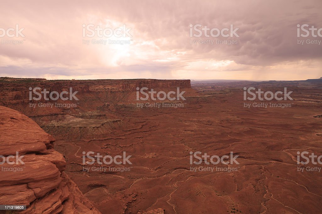 Canyonlands National Park at dusk royalty-free stock photo