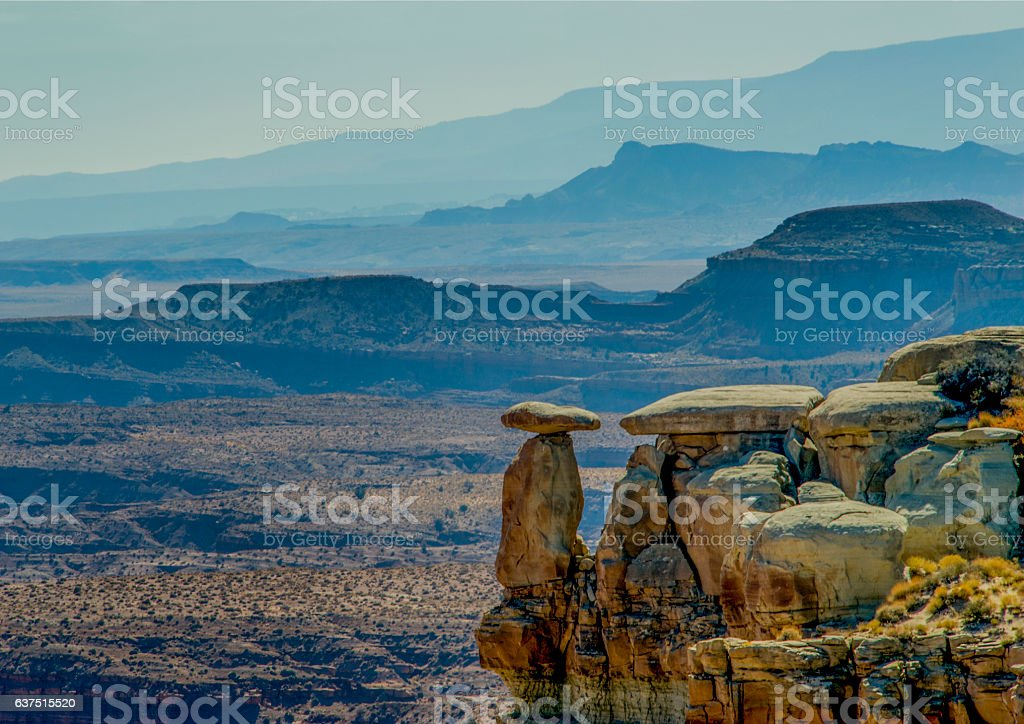 Canyonlands National Park from Islands in the Sky stock photo