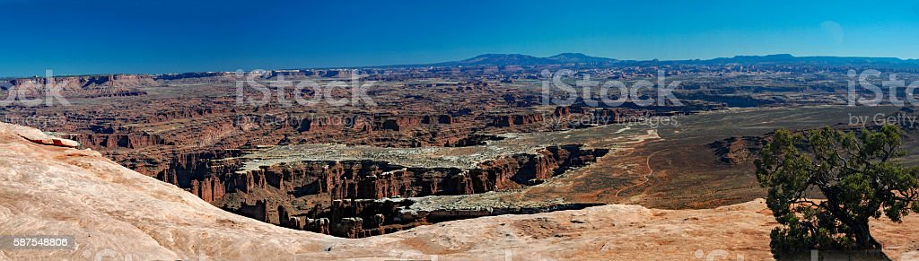 Canyonlands National Park Panorama from Island in the Sky stock photo