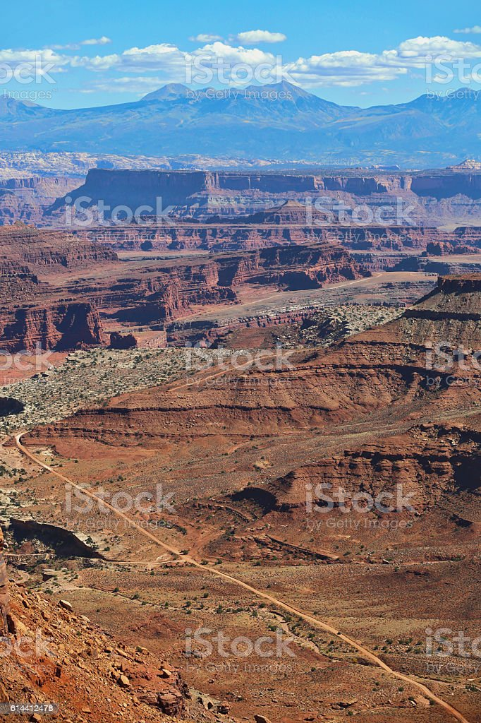 Canyonlands National Park. View of Shafer Canyon stock photo