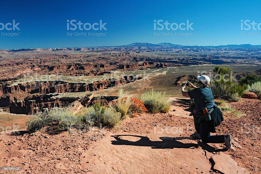 Canyonlands - Taking a Photo stock photo
