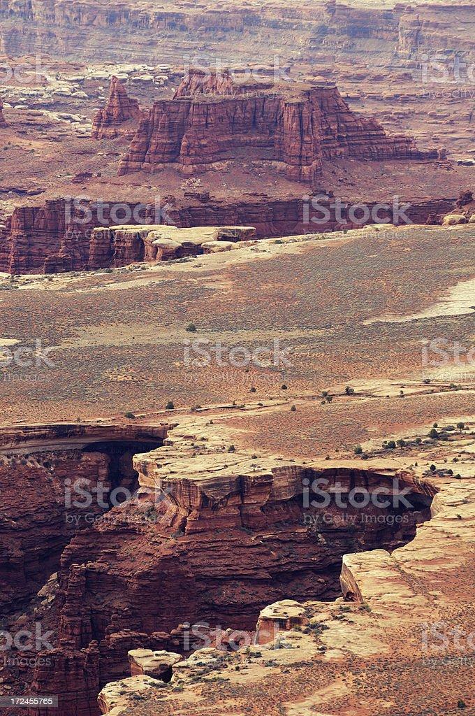 Canyonlands telephoto landscape royalty-free stock photo