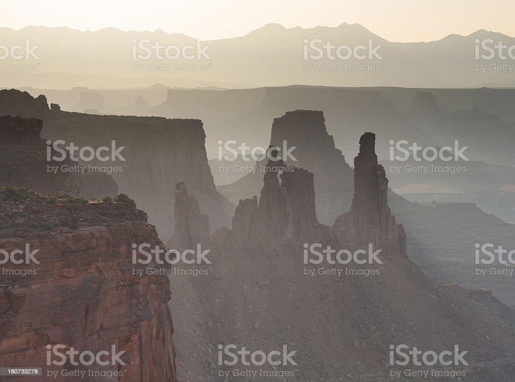 Canyonlands Washer Woman Arch Sunrise stock photo