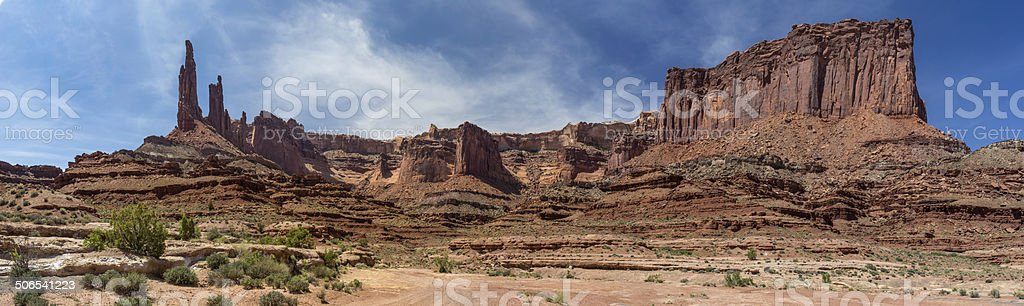 Canyonlands White Rim Trail at Washer Woman Arch stock photo