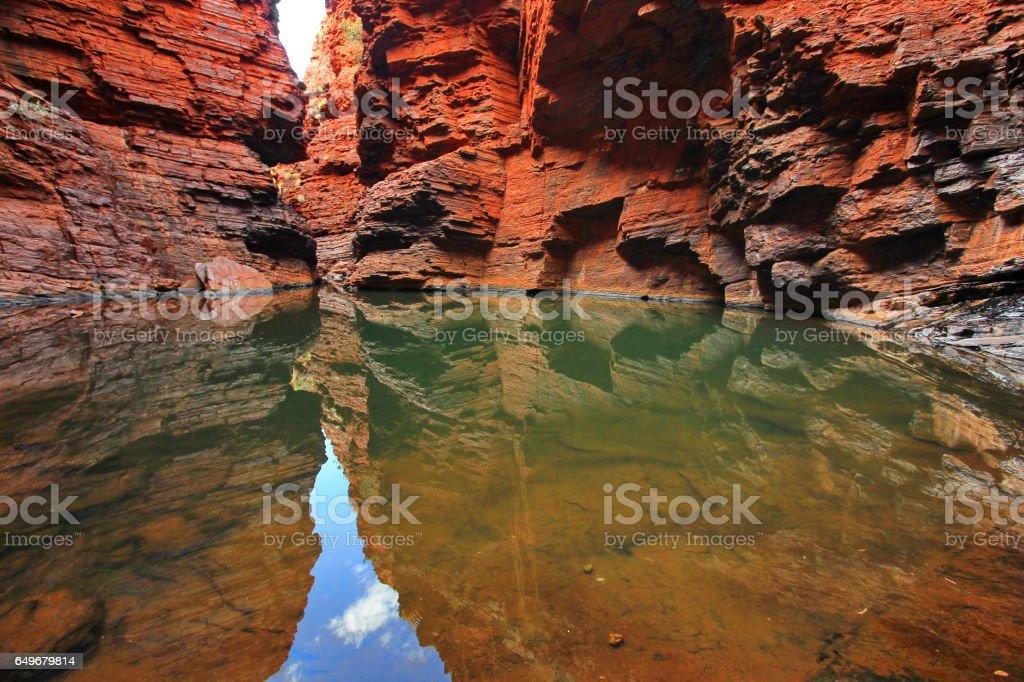 Canyons in Australia - Karijini National Park stock photo
