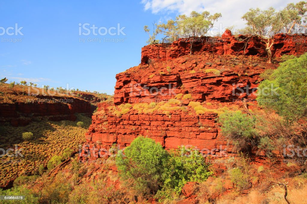 Canyons in Australia - Karijini National Park stock photo
