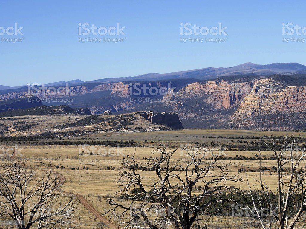 Canyons in Dinosaur National Monument stock photo