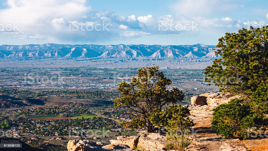 Canyons view, Colorado National Monument. stock photo