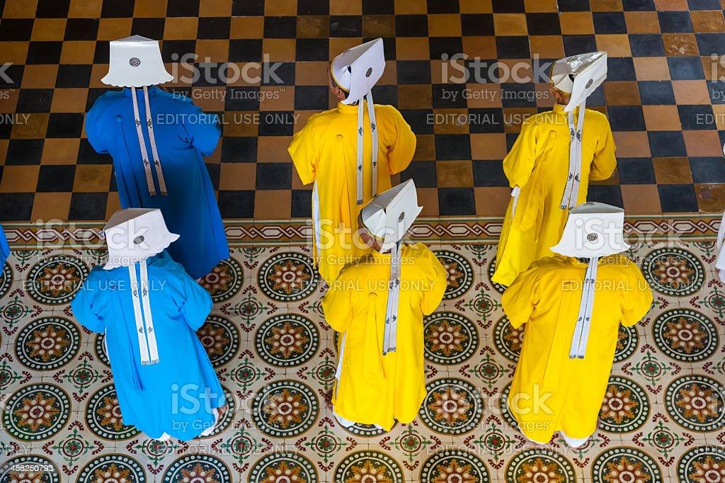 Caodai temple, Ho Chi Minh City, Vietnam royalty-free stock photo
