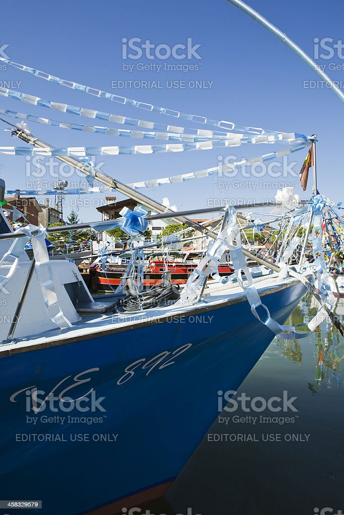 Caorle; religious procession stock photo