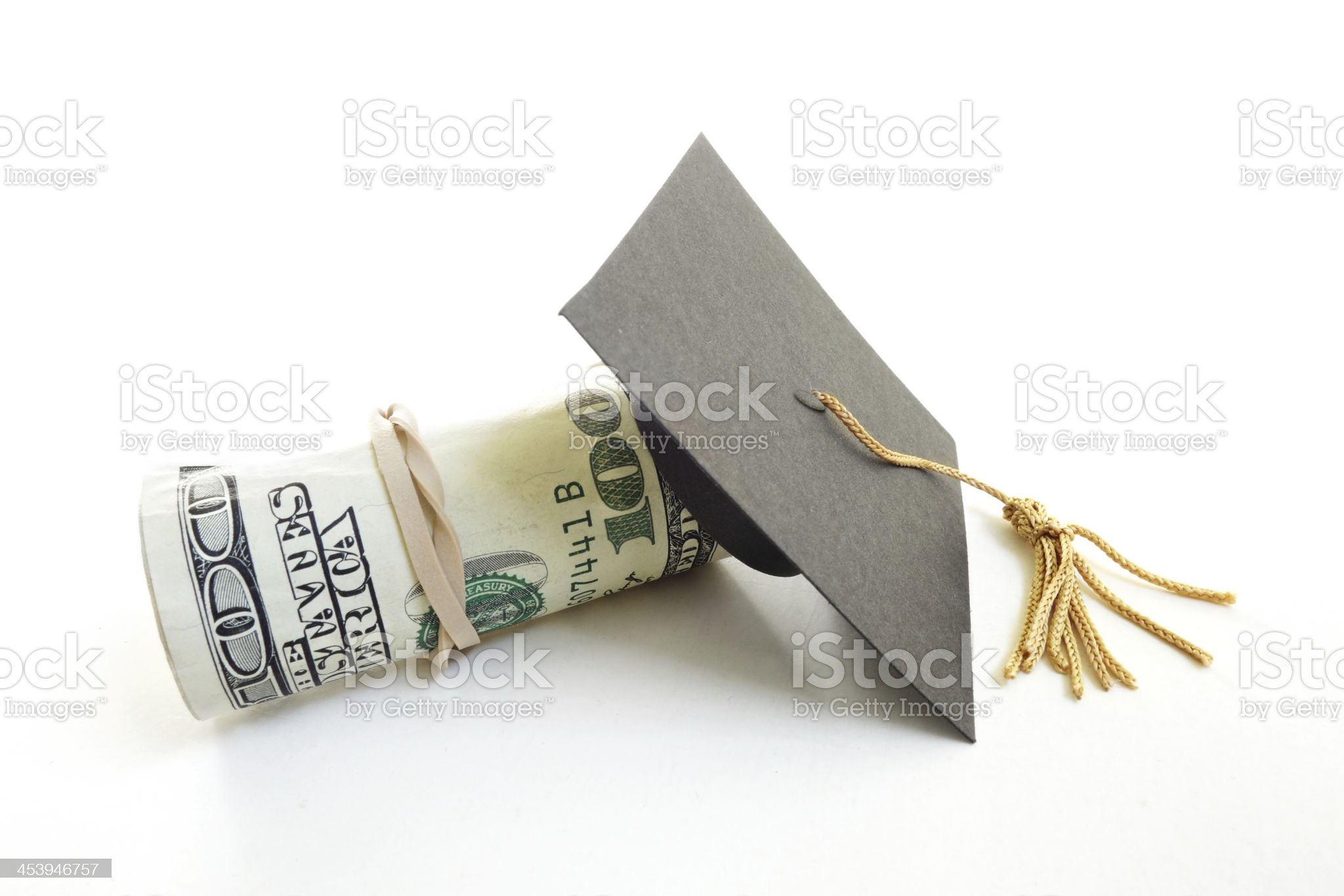 cap and cash royalty-free stock photo