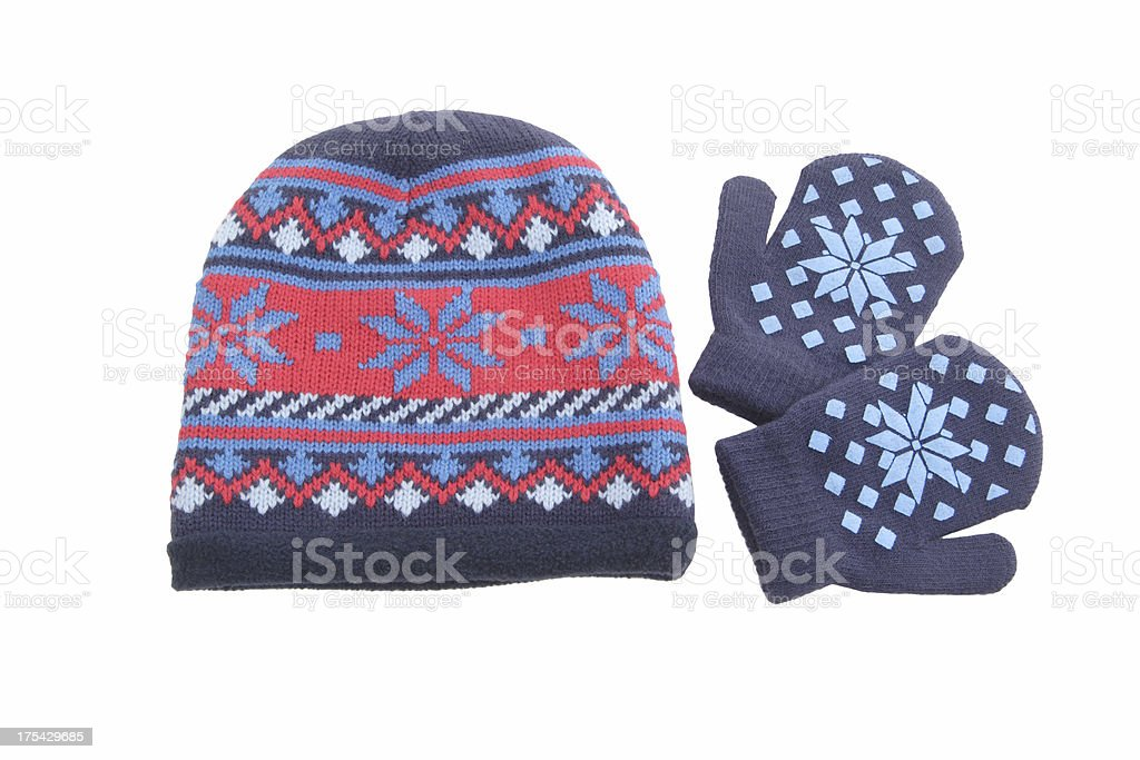 Cap and mittens. royalty-free stock photo