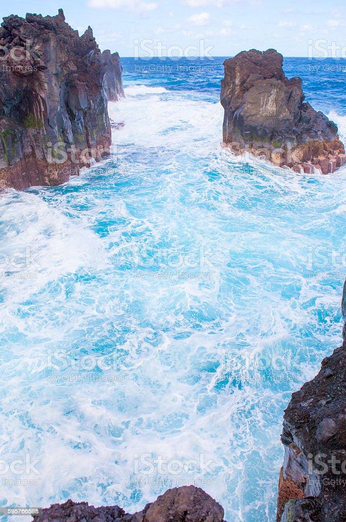 Cap Bas, La Marine Langevine - Reunion Island coast stock photo