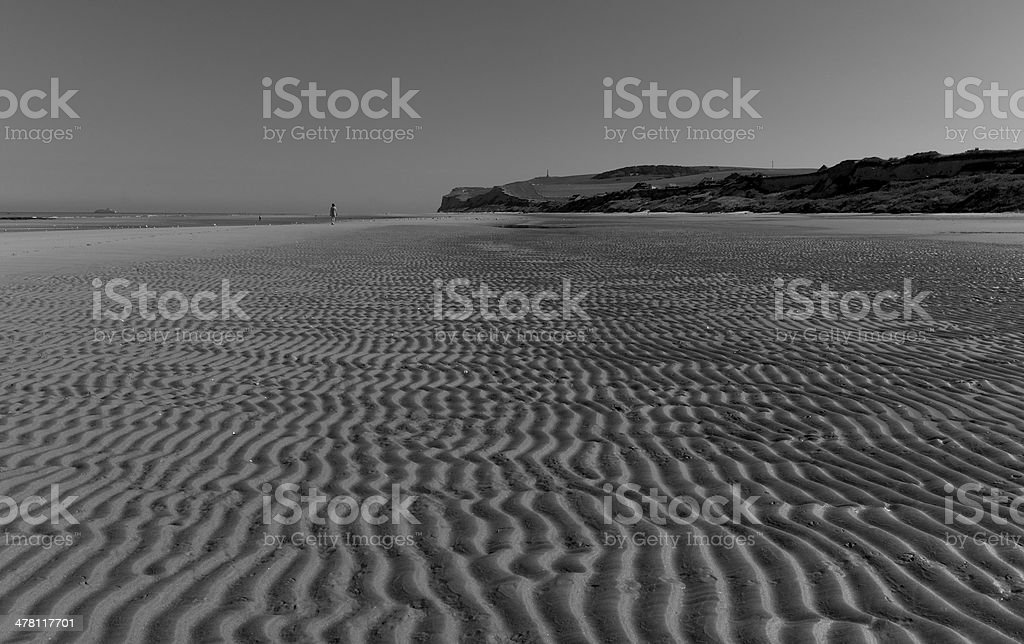 Cap Blanc Nez seen from the beach royalty-free stock photo