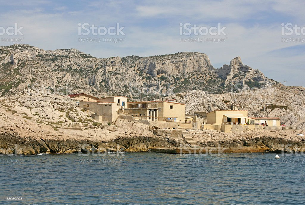 Cap croisette in calanques of Marseille, France royalty-free stock photo