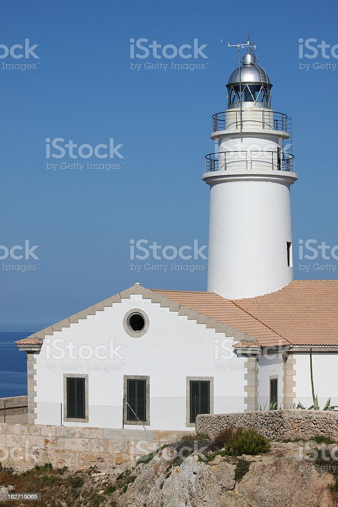 Cap de Capdepera Lighthouse royalty-free stock photo