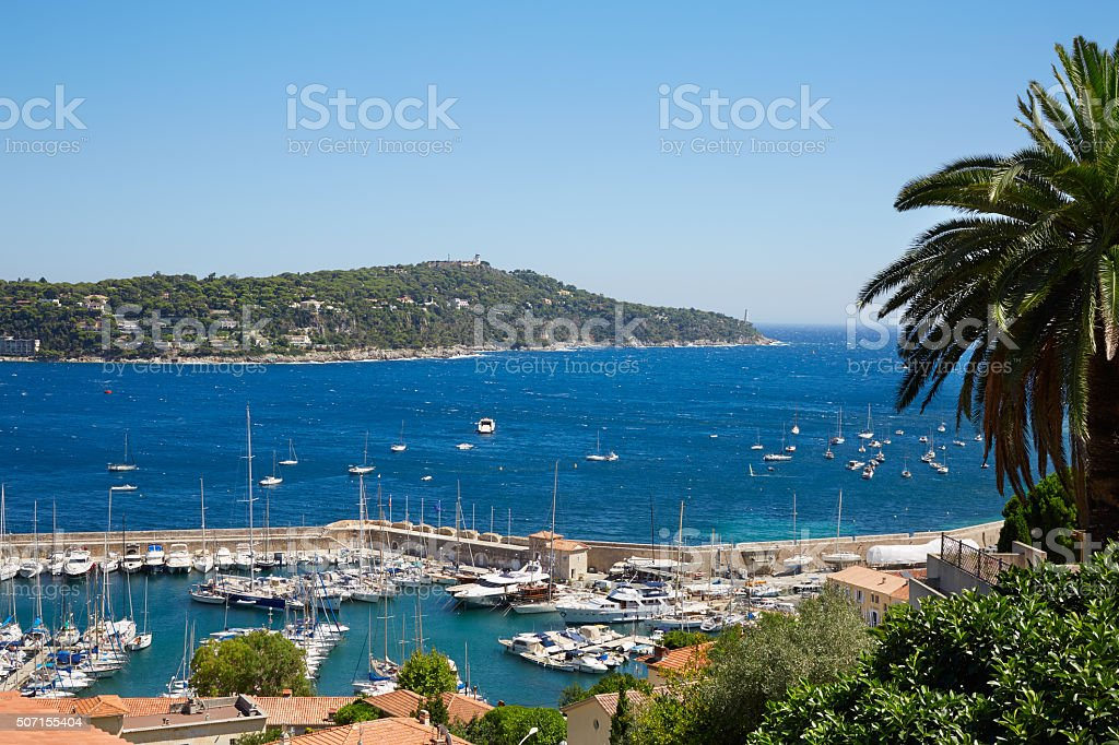 Cap Ferrat and sea view in a summer day, France stock photo
