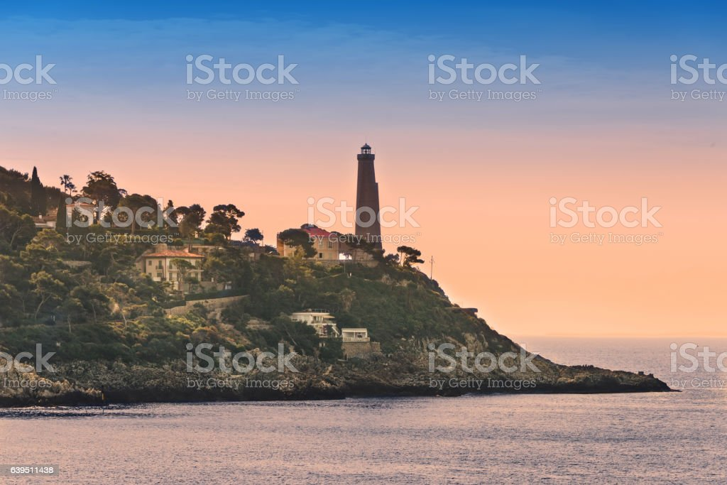 Cap Ferrat Lighthouse in France stock photo