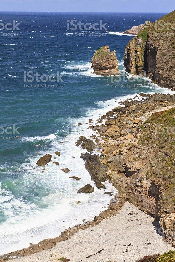 Cap Frehel - French atlantic coast stock photo