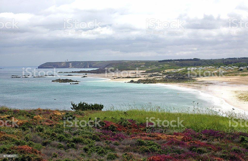 Cap Frehel, landscape of Brittany royalty-free stock photo