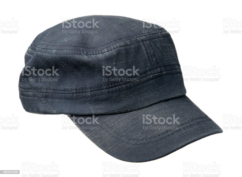 cap isolated on white background. cap with a visor . blue cap stock photo