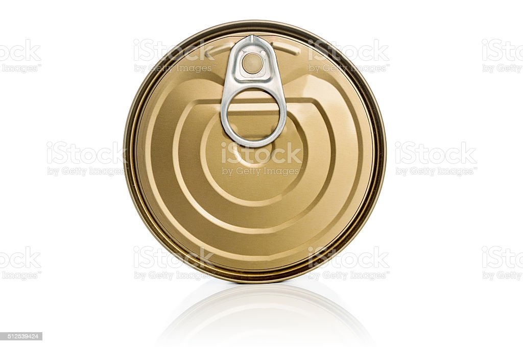 Cap lock of can isolated on white background stock photo