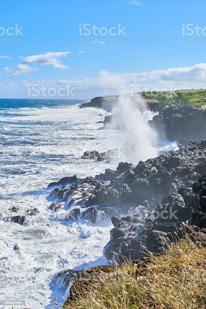 Cap Malizé dit Église Requins - Reunion Island stock photo