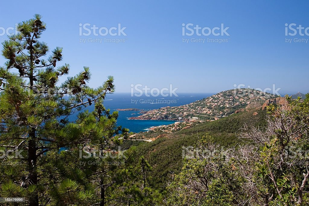 Cap Roux, viewed from Saint-Barthelemy royalty-free stock photo