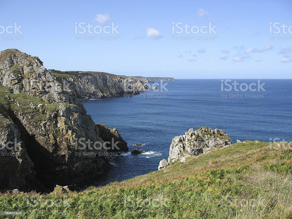 Cap Sizun in Brittany stock photo