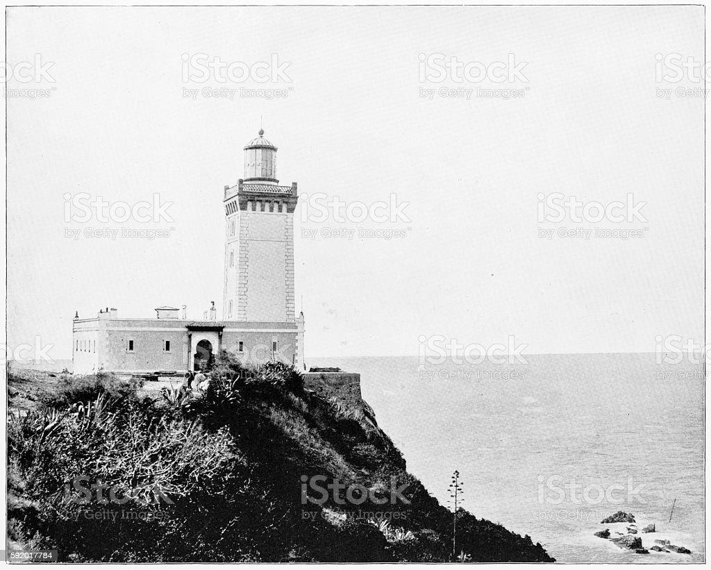 Cap Spartel, Morocco in 1880s stock photo