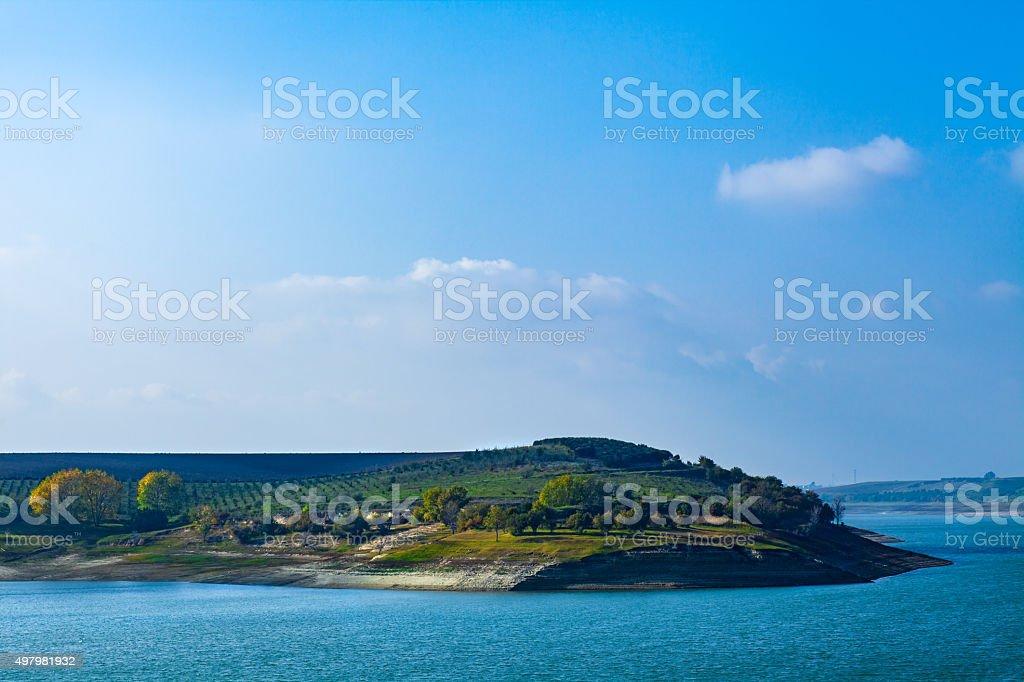 Capacciotti Lake stock photo
