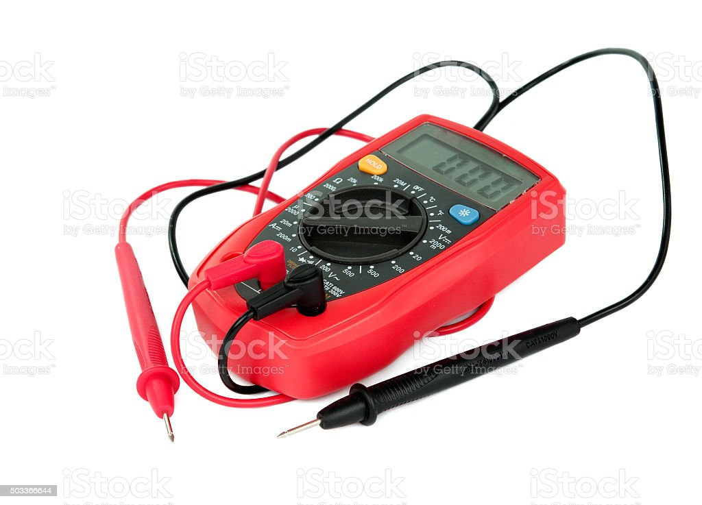 capacitance meters stock photo