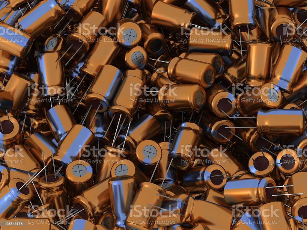 3D Capacitors stock photo