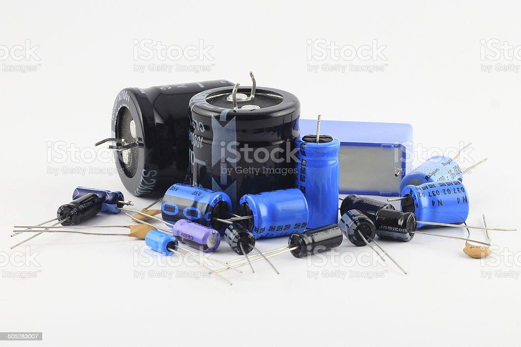 Capacitors stock photo
