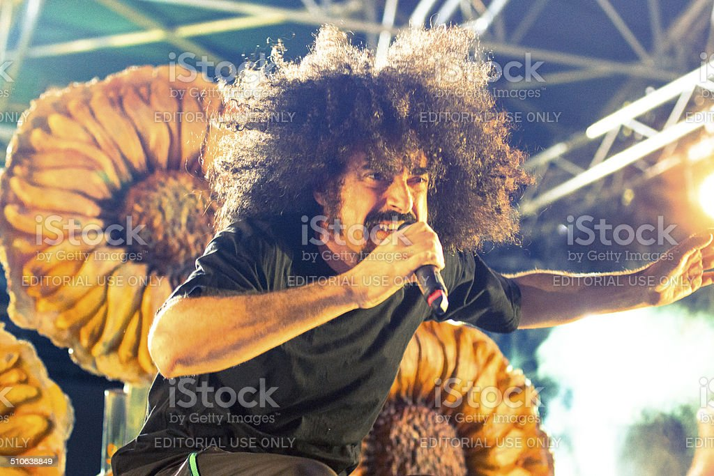 Caparezza Live Concert in Pisa, Metarock 2014 stock photo
