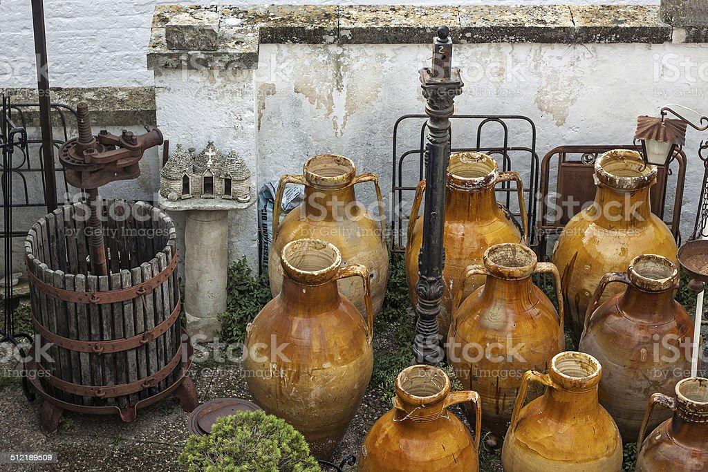 capasone and wine press stock photo