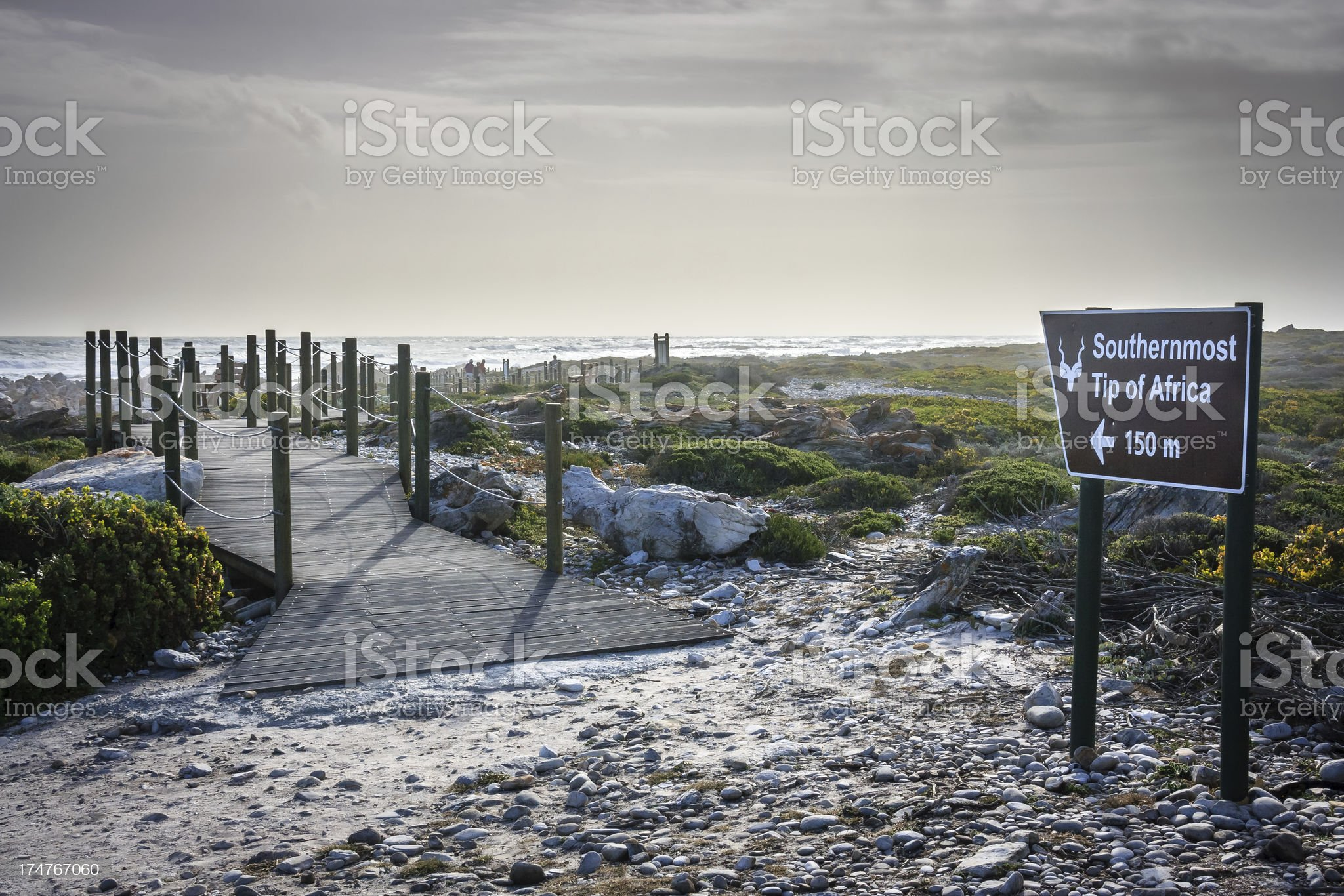 Cape Agulhas - Southernmost Tip of Africa royalty-free stock photo