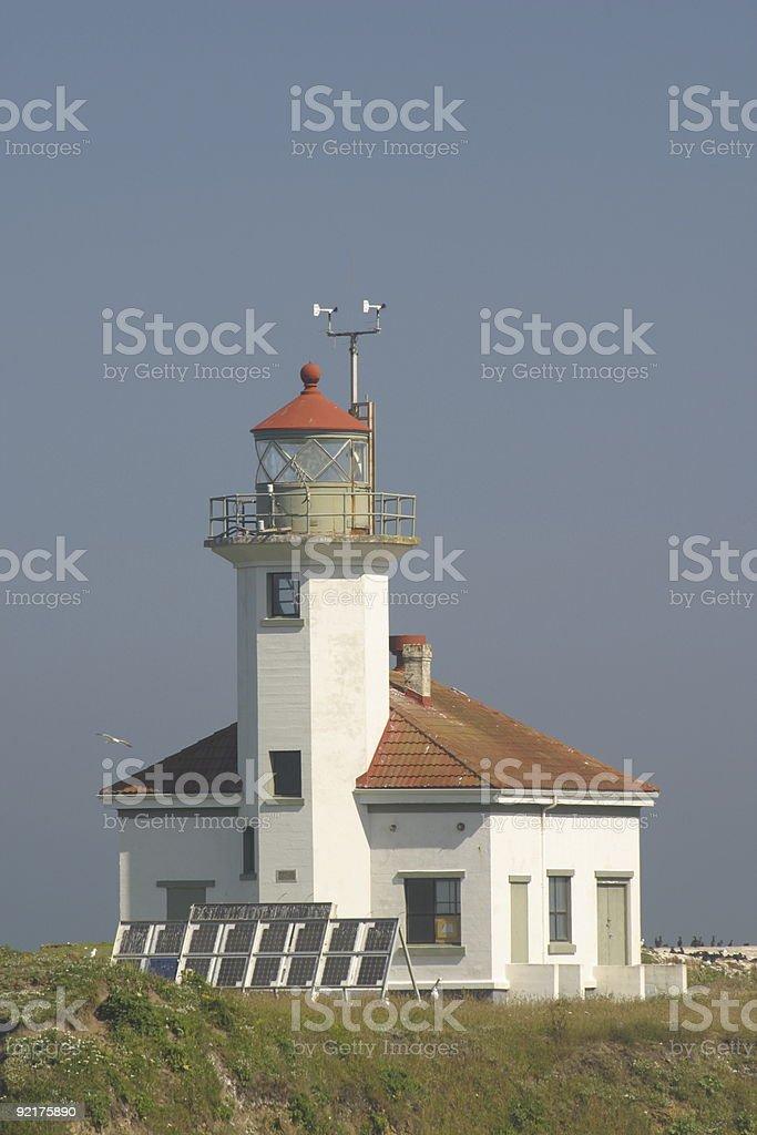 Cape Arago Lighthouse, Oregon coast royalty-free stock photo