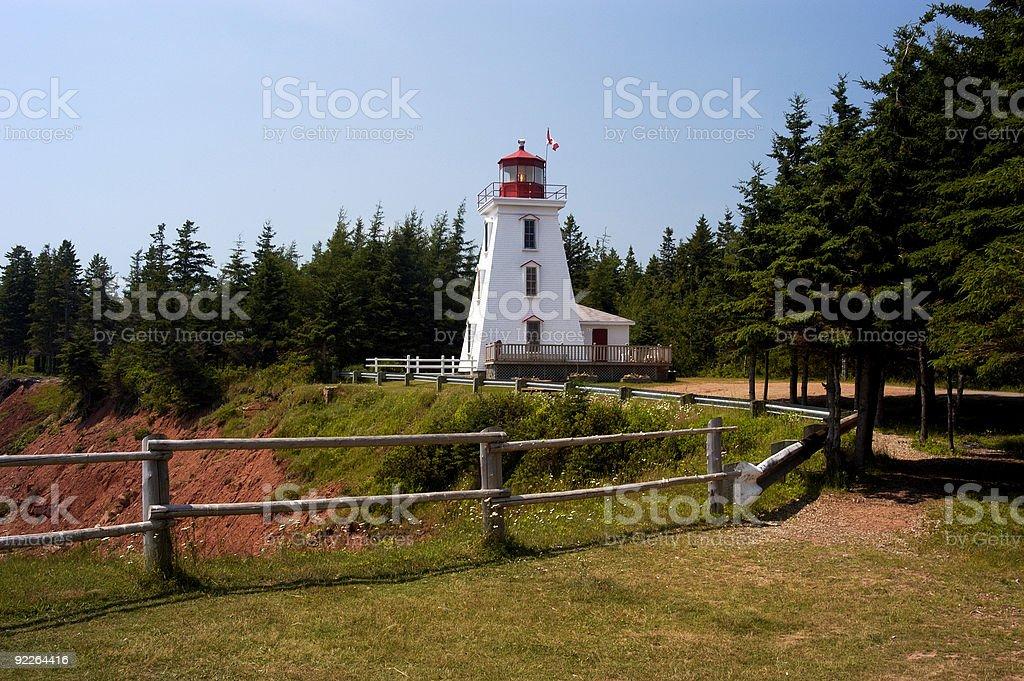 Cape Bear Lighthouse royalty-free stock photo