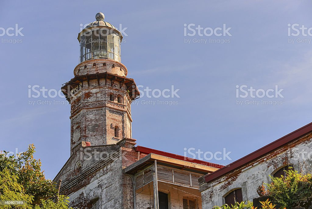Cape Bojeador Lighthouse - Burgos, Ilocos Norte, Philippines stock photo
