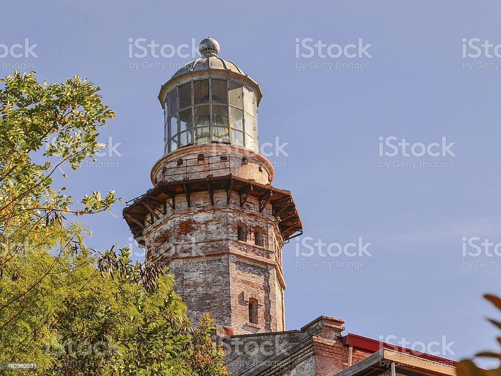 Cape Bojeador Lighthouse - Ilocos Norte, Philippines stock photo