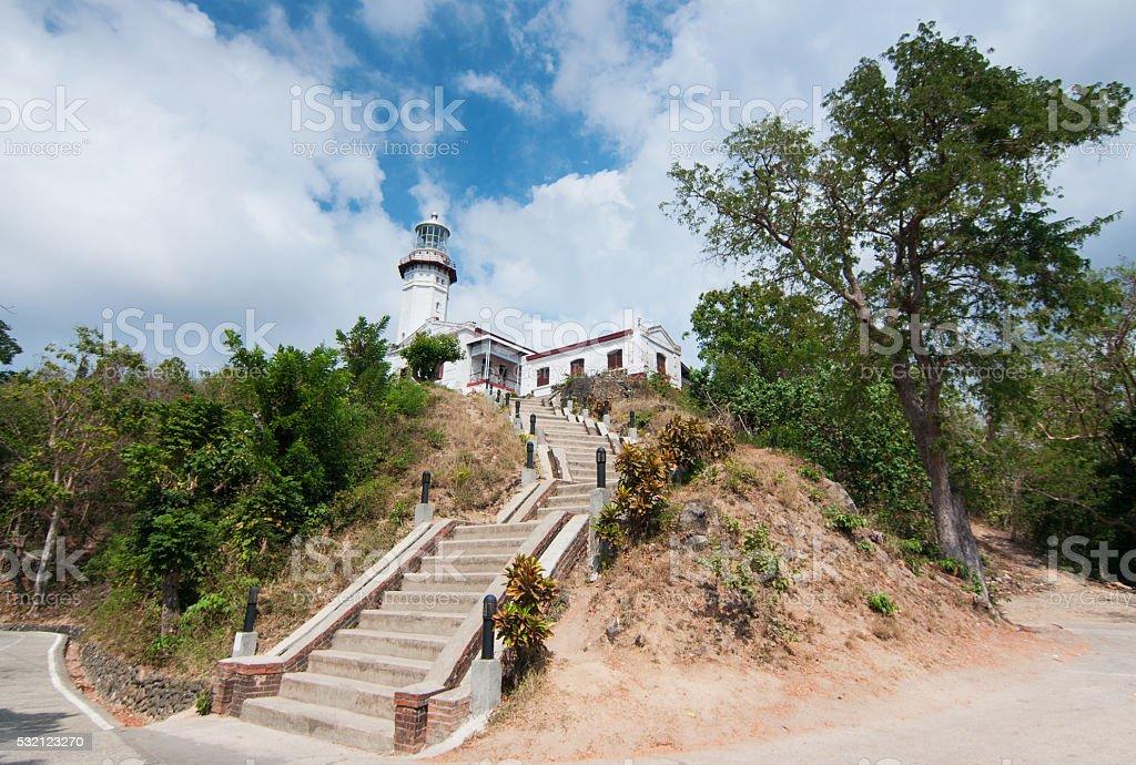 Cape Bojeador Lighthouse stock photo
