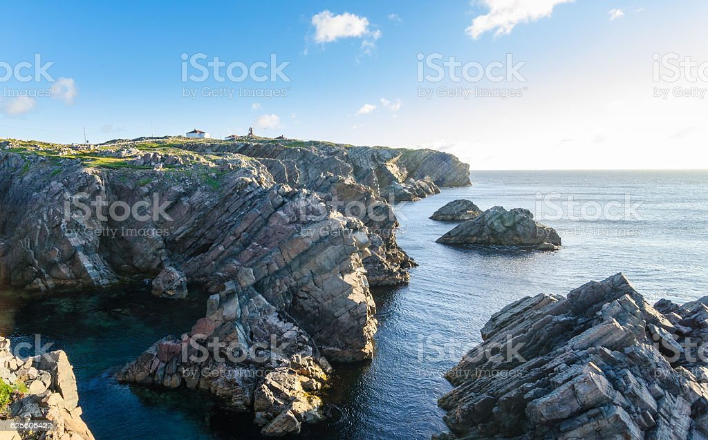 Cape Bona Vista coastline in Newfoundland, Canada. stock photo
