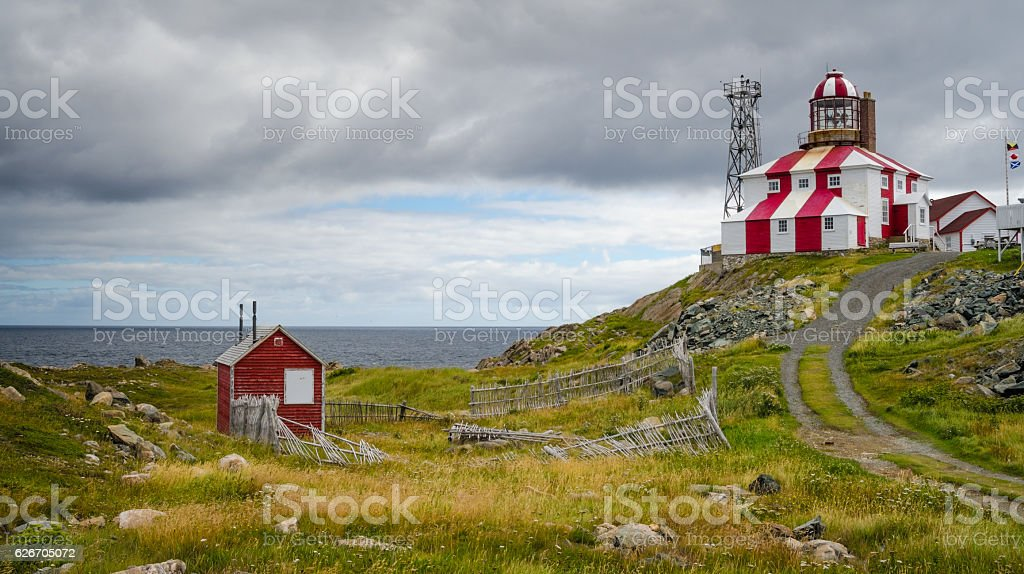 Cape Bonavista Lightstation, Newfoundland, Canada. stock photo