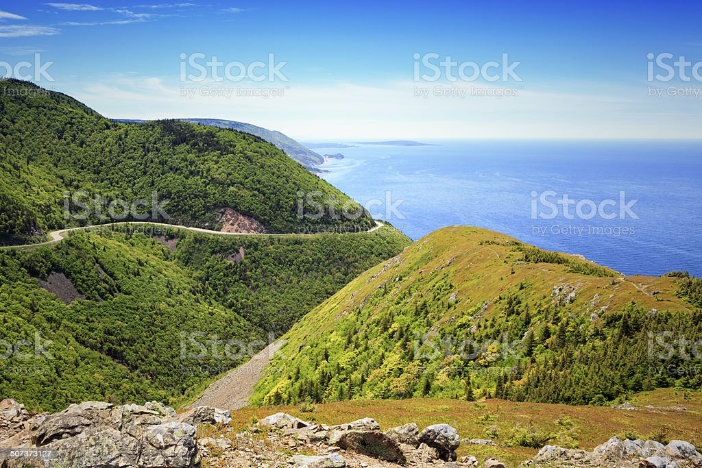 Cape Breton Highlands National Park stock photo