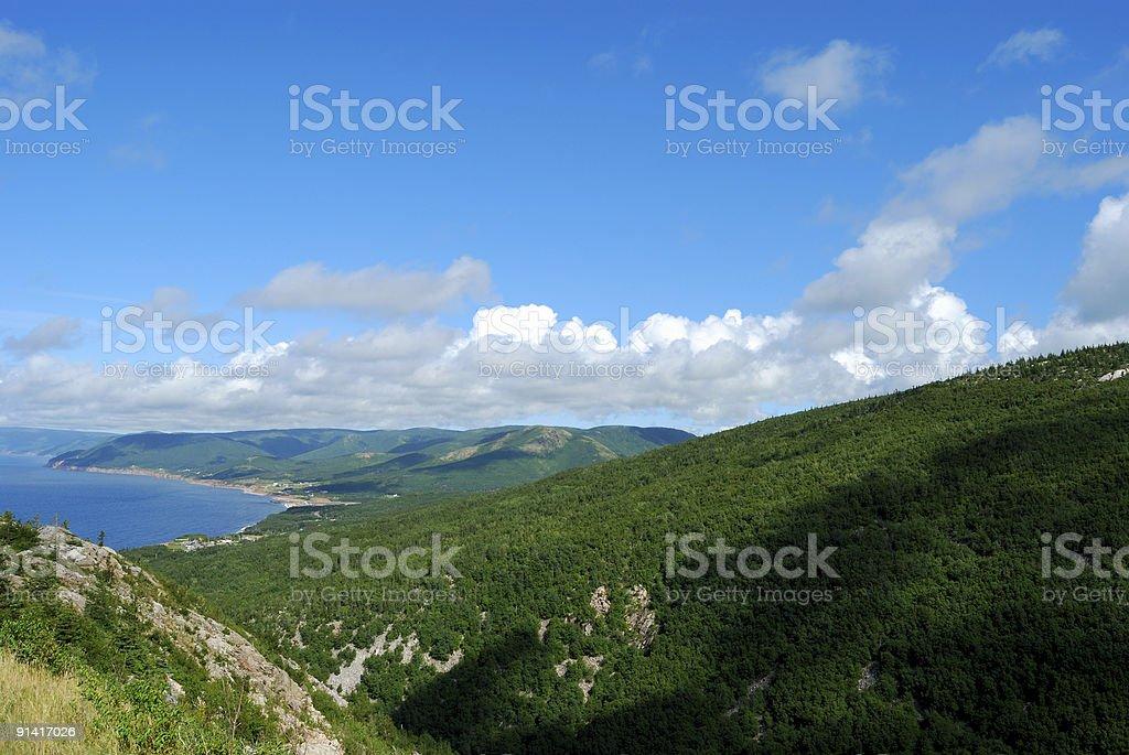 Cape Breton Highlands National Park stock photo