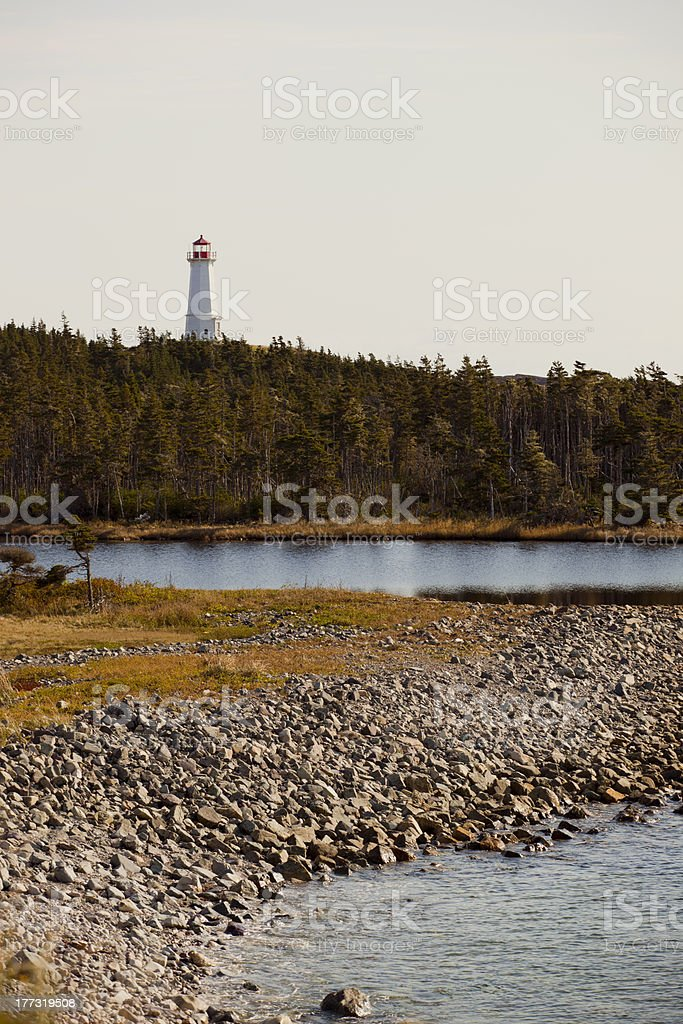 Cape Breton lighthouse stock photo